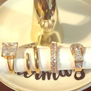 Set of 4 Costume Rings Size 7